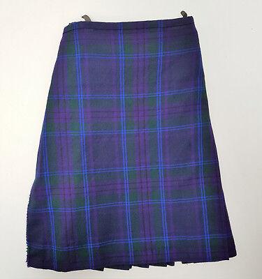 """Ex Noleggio Kids 21"""" Girovita 14"""" Goccia Spirit Of Scotland Lana Kilt Condizione A1-mostra Il Titolo Originale"""
