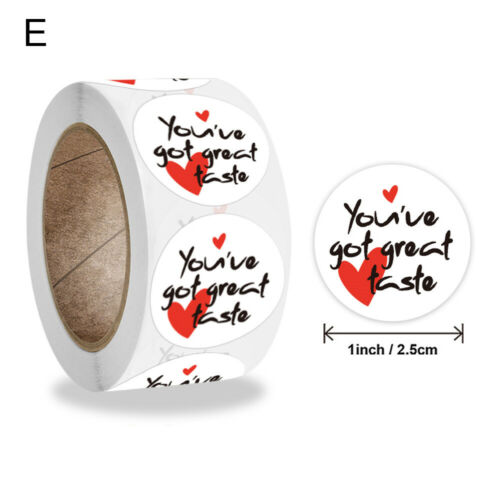 Gifts Decoration Adhesive Label Thank You Stickers Happy Birthday Seal Labels