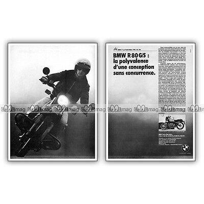 Heerlijk Pub Bmw R 80 Gs R80 G/s R80gs - Original Advert / Publicité Moto De 1984 Lekkernijen Geliefd Bij Iedereen