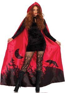 2fe7e2428aa7a Details zu LAG Leg Avenue A2801 Damen Vampir Satin Umhang Cape zum Vampir  Kostüm Halloween