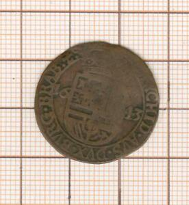 Pays Down Spanish Farthing Coin Philippe IV 1643 Brabant