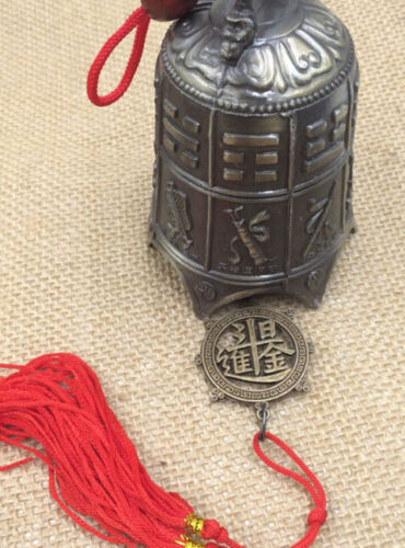 105mm Excellent Chinese brass sword carving dragon bell Lucky feng shui