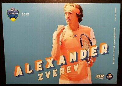 ALEXANDER ZVEREV 5X7 2018 WESTERN /& SOUTHERN ATP TOURNAMENT COLLECTOR CARD