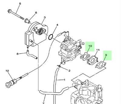Yamaha F2 5a 2 5hp 4 Stroke Outboard Intake Manifold Gaskets Ebay