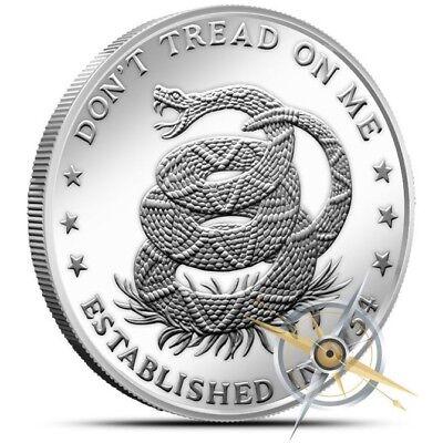 Brand New 1 Oz .999 Silver Round Don/'t Tread on Me Eternal Vigilance Design