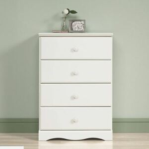 Details about Dressers with Drawers Baby Furniture Chest Wood 4 Drawer  Girls Kid Bedroom White