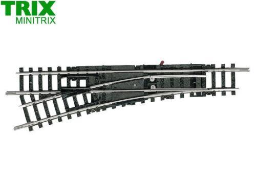 Trix N 14954 Handweiche links 15° 112,6 mm Minitrix NEU OVP