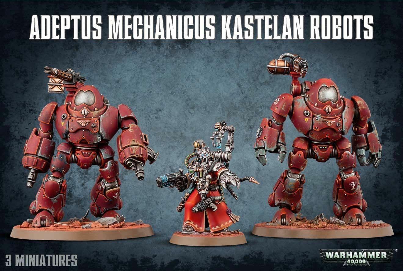 Kastelan robots Adeptus Mechanicus ad Warhammer 40k Mech skitarii
