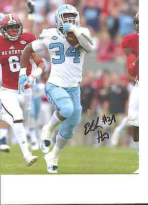 Sports Mem, Cards & Fan Shop Elijah Hood North Carolina Tar Heels Signed 8x10 Photo W/coa #2 Perfect In Workmanship