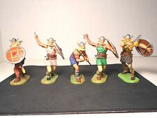 Elastolin 7cm-70mm Pro-Painted Vikings, Total 5 Figures, LOT#1