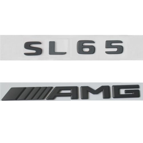 Black Trunk Letters Emblem Badges Emblems for Mercedes Benz S65L SL65 AMG 2017+