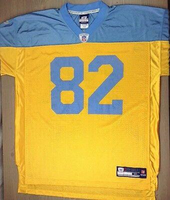 Philadelphia Eagles Jersey XL Mens Torrey Smith #82 Reebok Throwback Yellow Blue