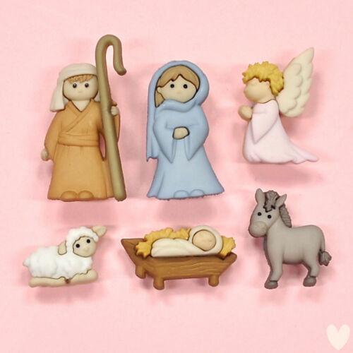 DRESS IT UP Buttons Nativity 7473 Angels Nativity Sheep Angel Manger