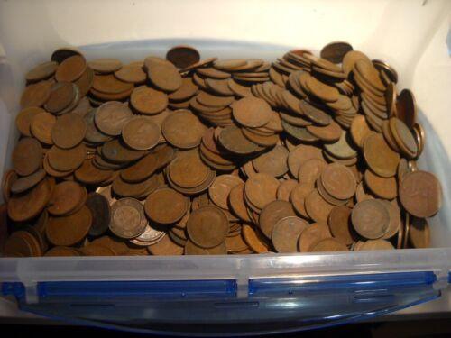 Bulk Lot Australian Half Pennies 20 Coins 20 Different Dates KGV QEII