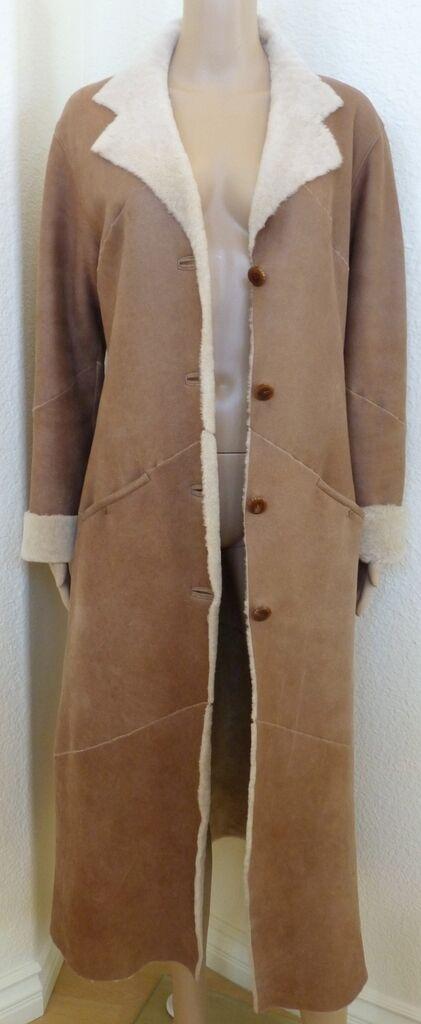 New  Toscana Spanish Merino Lamb Sheepskin Shearling Fur Leather Coat S