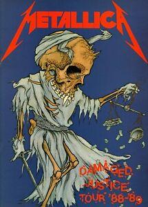 METALLICA-1988-1989-DAMAGED-JUSTICE-TOUR-CONCERT-PROGRAM-BOOK-BOOKLET-NMT-2-MINT