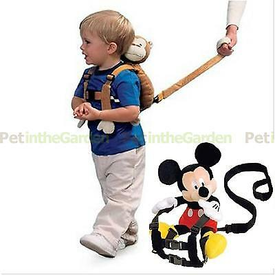 Baby Kid Toddler Walking Safety Harness Strap Cosplay Backpack Reins Bag