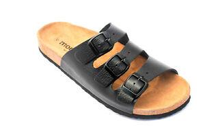 Herren Leder Sandalen Softsohle Sandaletten Pantoletten Leather Sandals Spain