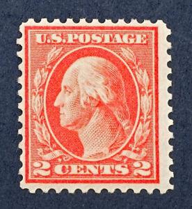 Scott US #461 -1915 Washington 2 Cents; Mint Never Hinged; OG; CV=$325
