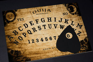 Clasic-wooden-Ouija-Spirit-Hunt-Board-game-amp-Planchette-with-instruction