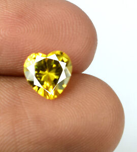 2.20 Ct Heart Shape Yellow Sapphire Gemstone Natural Certified Valentine's Gift