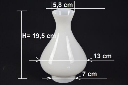 K0950A 13// 7cm Lampenschirm Kuppel für Petroleumlampen Ersatz weiß Antik-Stil