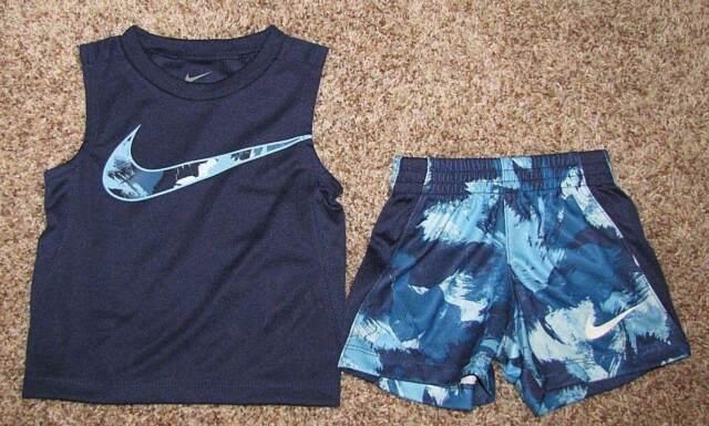 c4d01c7d2df Nike Binary Blue Baby Boys Size 12 Months Legacy Shorts Tank Set ...