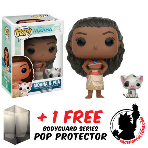 FUNKO POP VINYL DISNEY MOANA AND PUA #213 VINYL FIGURE + FREE POP PROTECTOR
