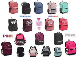 Image is loading New-VICTORIA-SECRET-PINK-Campus-Backpack-Collegiate- Backpack- 2cc71a90c8fd9