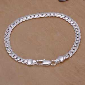 Edles-Design-925-Sterling-Silber-Armband-Armkette-Panzerkette-Hochglanz-Neu
