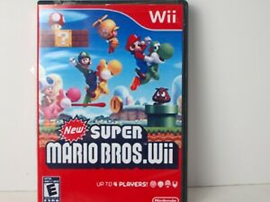 New-Super-Mario-Bros-Nintendo-Wii-Game-Damaged-Not-Working-As-Is