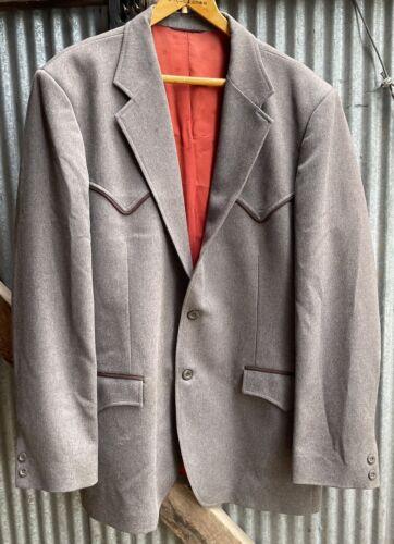 vtg 80s circle s western jacket 46L pants 40x33+2