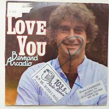 BERNARD ARCADIO I love you  AZ 1940 Paroles CLAUDE NOUGARO