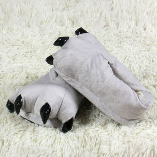 Kid Baby Girls Winter Warm Indoor Soft Slippers Funny Animal Paw Claw Shoes Boot