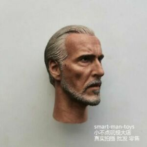 """Count Dooku 1//6 Head Sculpt Carving Model Toy Male Figure for 12/"""" Action Body"""