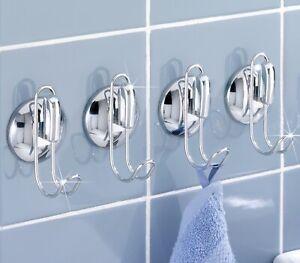 Details zu 4 WENKO Saughaken Saugnäpfe Saugnapf Handtuch Halter Küchen  Haken Badezimmer