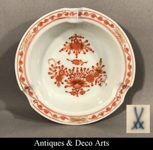 Meissen Porcelain Asher INDIAN FLORAL ORANGE 1.W