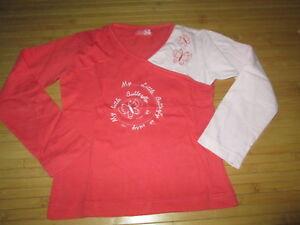 Tee-shirt-orange-a-motif-ML-T5ans-marque-La-Redoute-en-TBE
