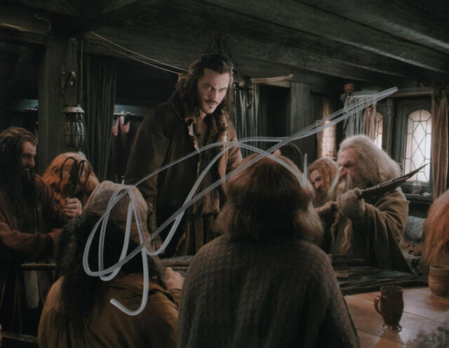 Hobbit Luke Evans Autographed Signed 8x10 Photo COA