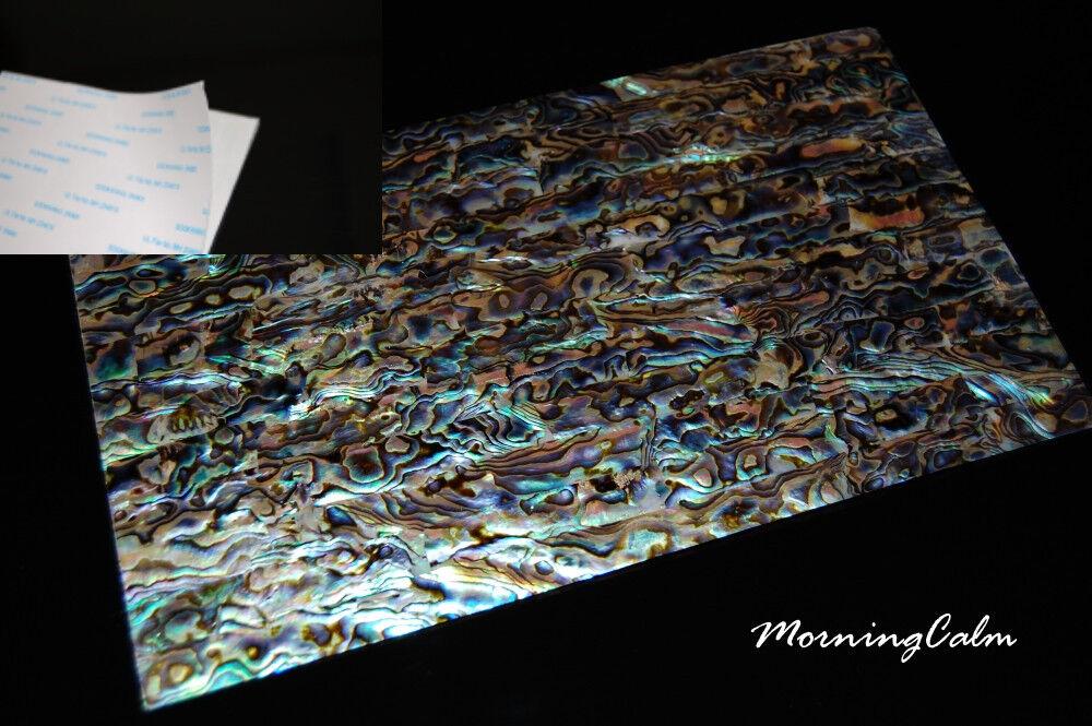 3 Sheets of Blau Paua Coated Adhesive Veneer (MOP Shell Craft  Mother of Pearl )