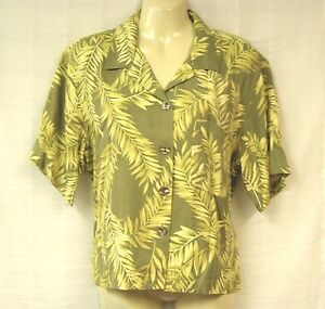 7f3a542d7a9793 Image is loading TOMMY-BAHAMA-Silk-Shirt-M-Top-Boxy-Blouse-