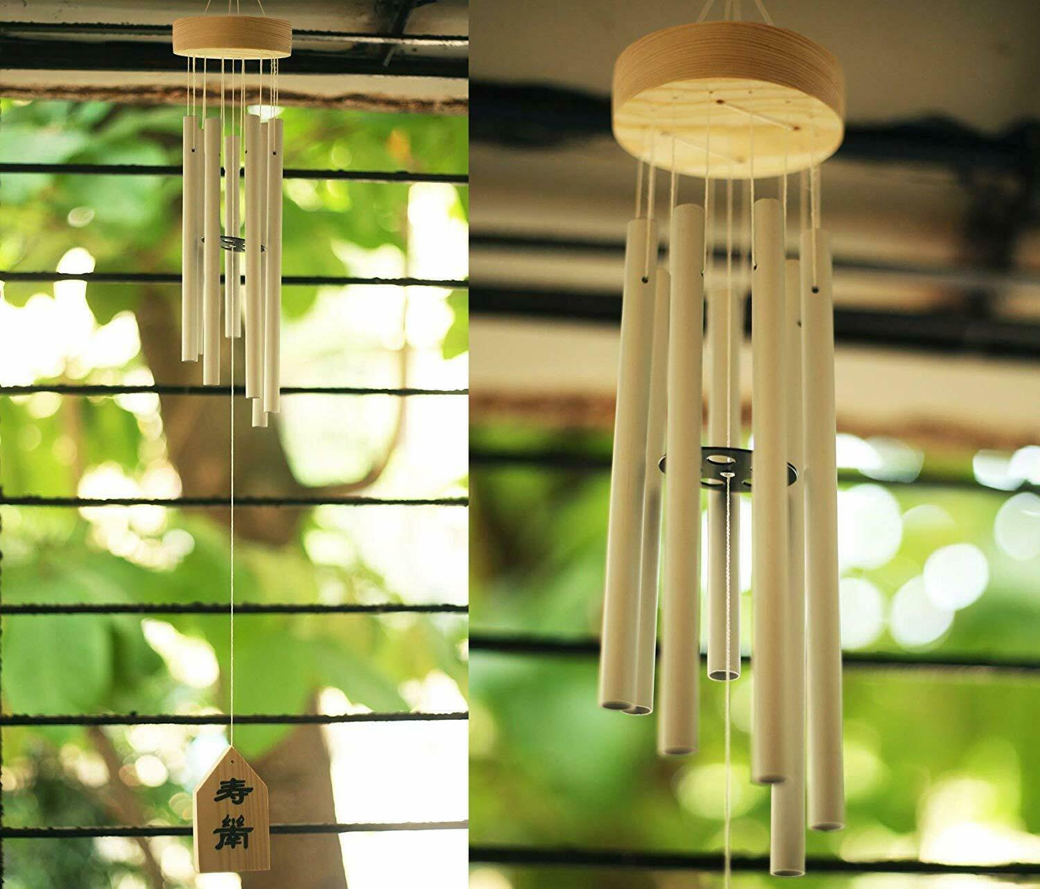 Feng Shui Items for Home Decoration Wind Chimes (Silver, 7 Pipe)