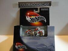 Hot Wheels 100% Black Box Red Harley Davidson Fatboy Motorcycle