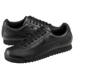PUMA ROMA BASIC Black Black Men Shoes 353572 17 Fast Shipping SLO1011 a591f1c06
