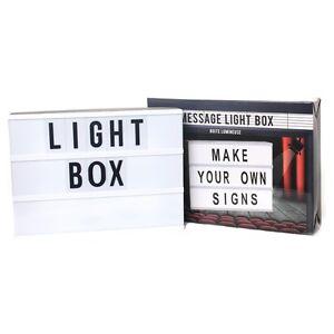 Letter Light Boxes.Details About Make Your Own Sign Message Light Box Cinematic Cinema Lightbox Letter Light Up
