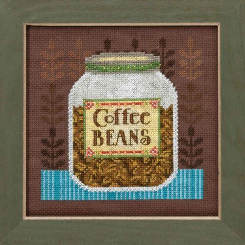 Coffee Beans Cross Stitch Kit Mill Hill Debbie Mumm 2016 Good Coffee /& Friends