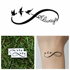 SHIP FROM NY - Infinity - Always - Temporary Tattoo (Set of 2)