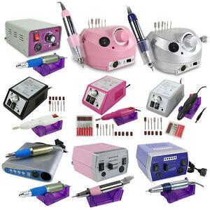 NEW-Electric-False-Acrylic-Nail-Art-File-Drill-Set-Manicure-Pedicure-Machine-Kit