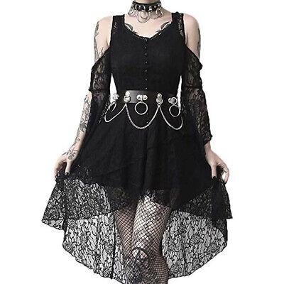 Women Dark In Love Ruffle Sleeves Off Shoulder Gothic Lace Dress Plus Size  S-5XL | eBay