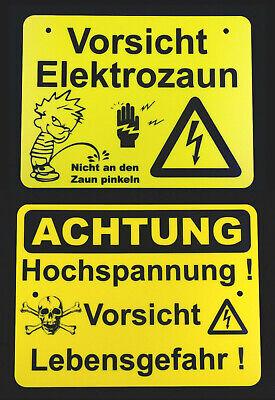 200x120 mm Lebensgefahr gelb//schwarz Elektro-Warnschild Hochspannung 1 St/ück
